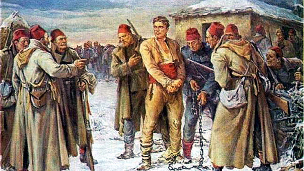 Залавянето на Апостола – художник Никола Кожухаров