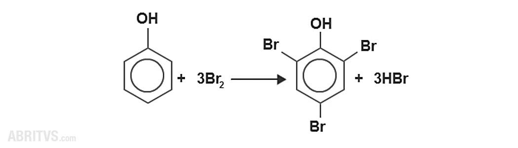 заместване в бензеновото ядро на фенол
