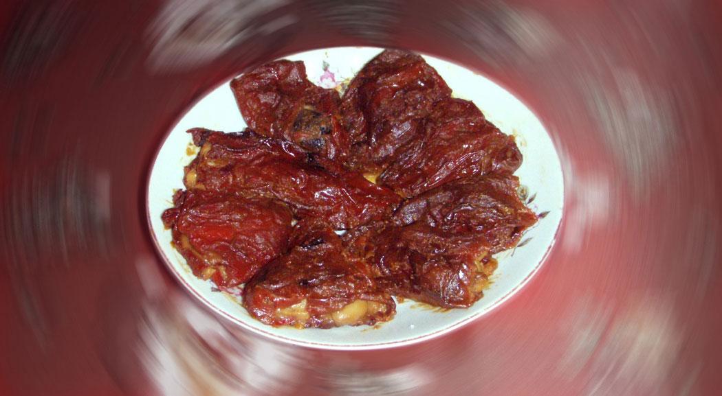манджа – пълнени сушени чушки с боб