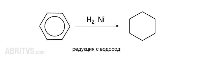редуциране на бензен до циклохексан