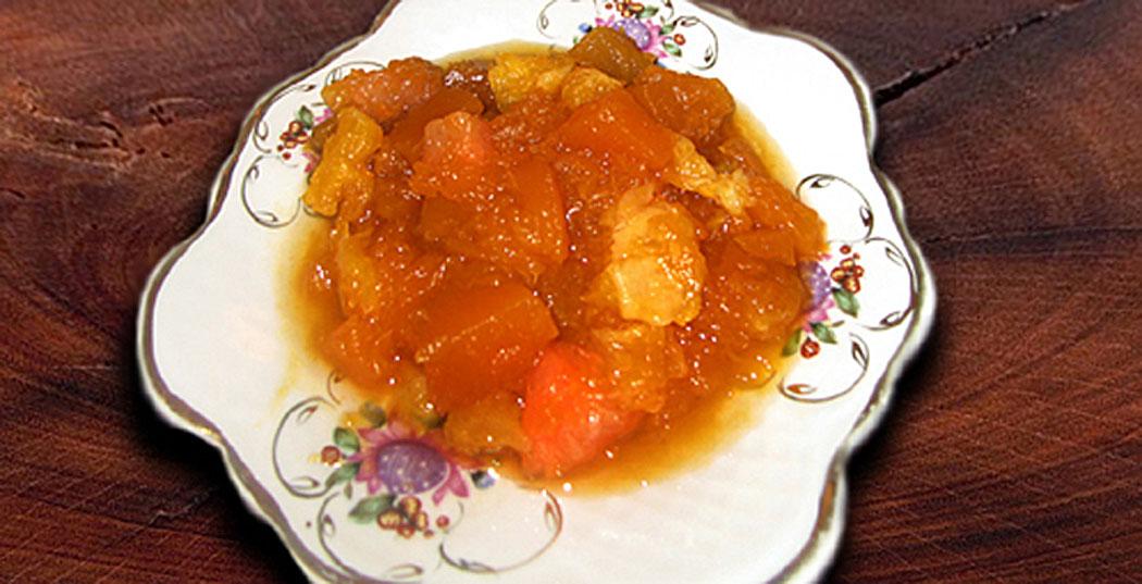 сладки изкушения - тиква с цитрусови плодове