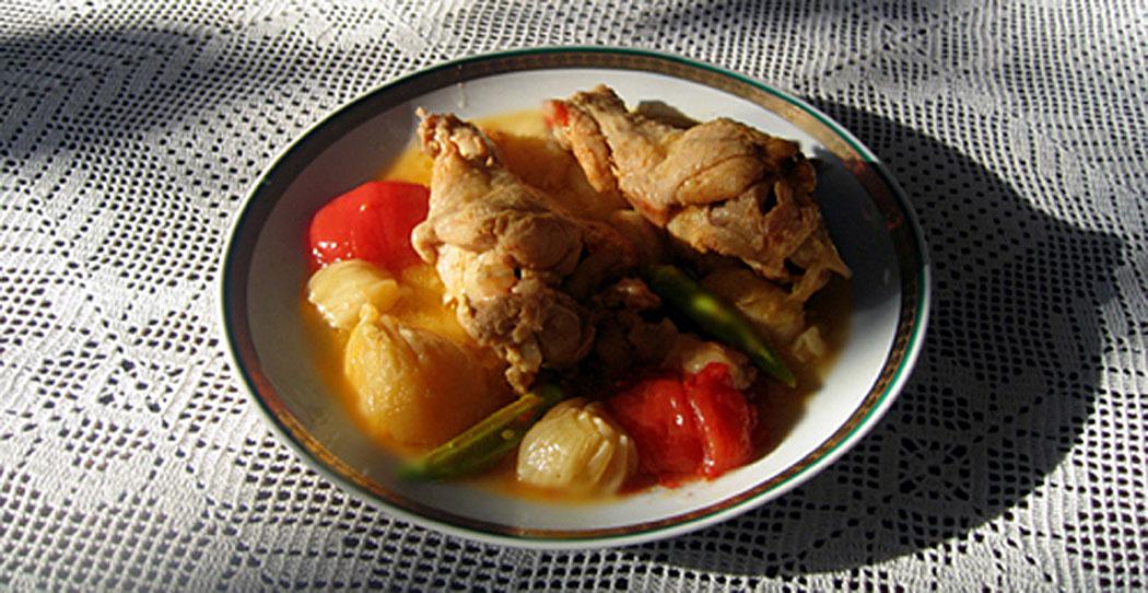 пиле с лук - манджа