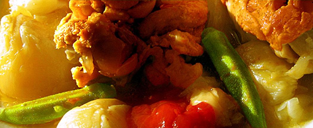 пиле с лук