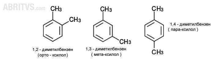 позиционни изомери - орто, мета и пара, бензен