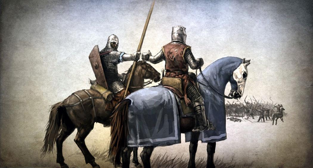 Рицар и неговият оръженосец