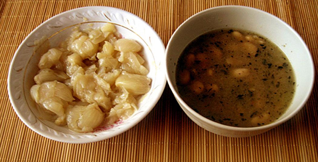 Варени лукчета и супа боб - бобена чорба