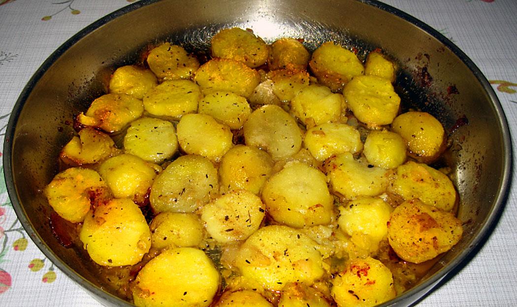 Постни печени картофи