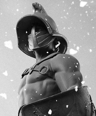 Спартак в гладиаторска броня