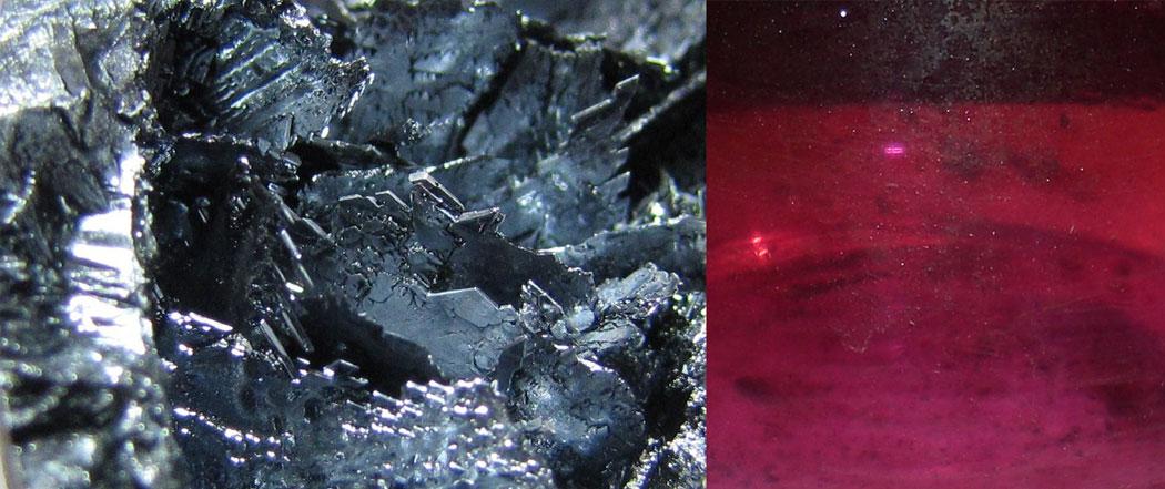 йод на кристали и йодни пари - VIIА група, 17 група на периодичната система