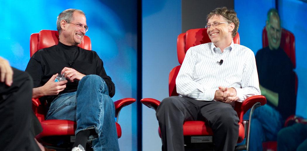 Стив Джобс и Бил Гейтс