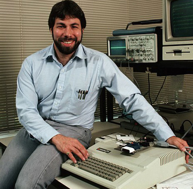 Стийв Возняк и Apple II
