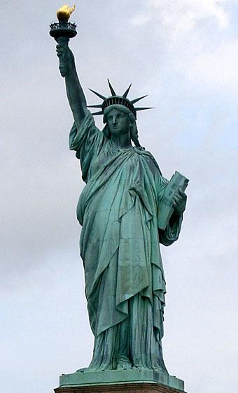 патина върху медното тяло на Статуята на свободата