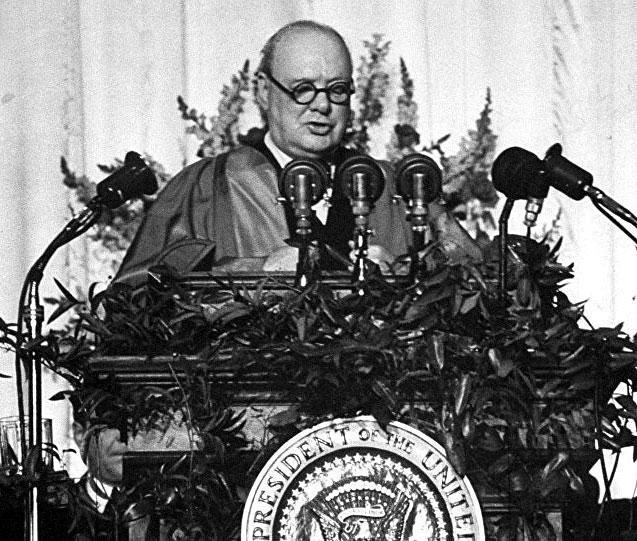 речта на Чърчил във Фултън, желязната завеса и Студената война