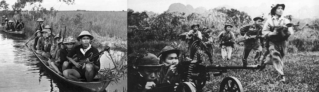 снимки на виетнамските партизани по време на Виетнамската война