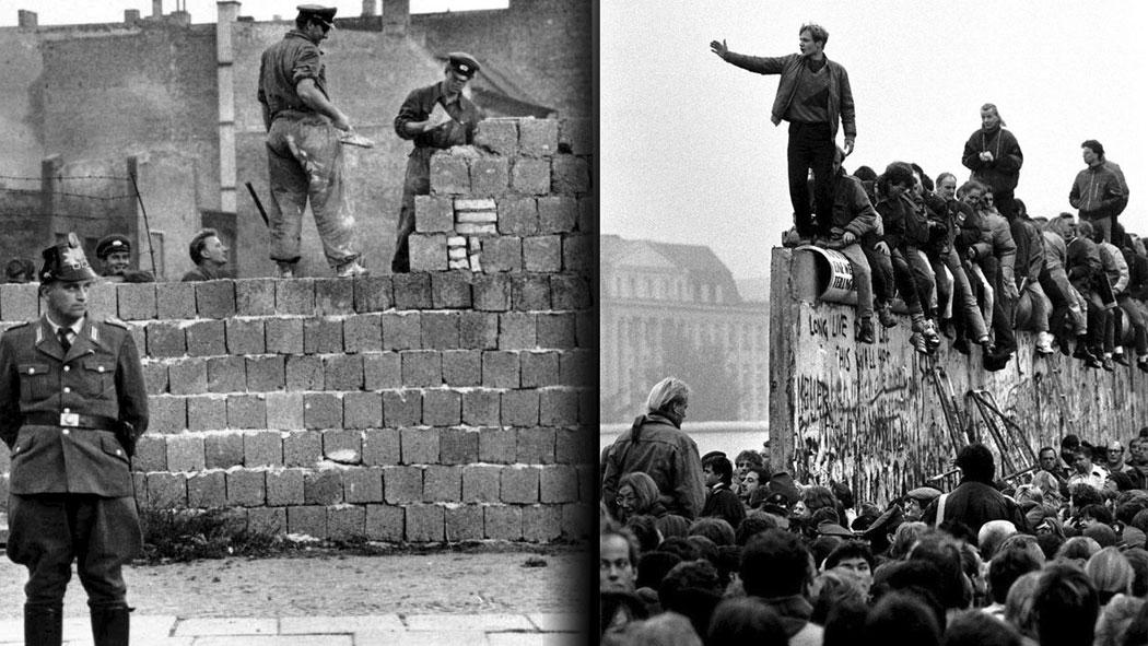 изграждането и падането на Берлинската стена