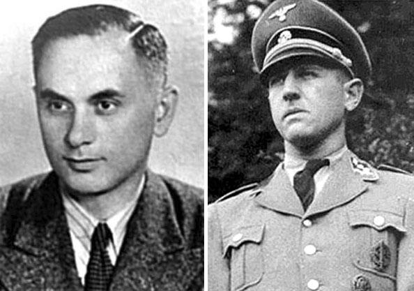 българският нацист Александър Белев и неговият немски колега Теодор Даникер