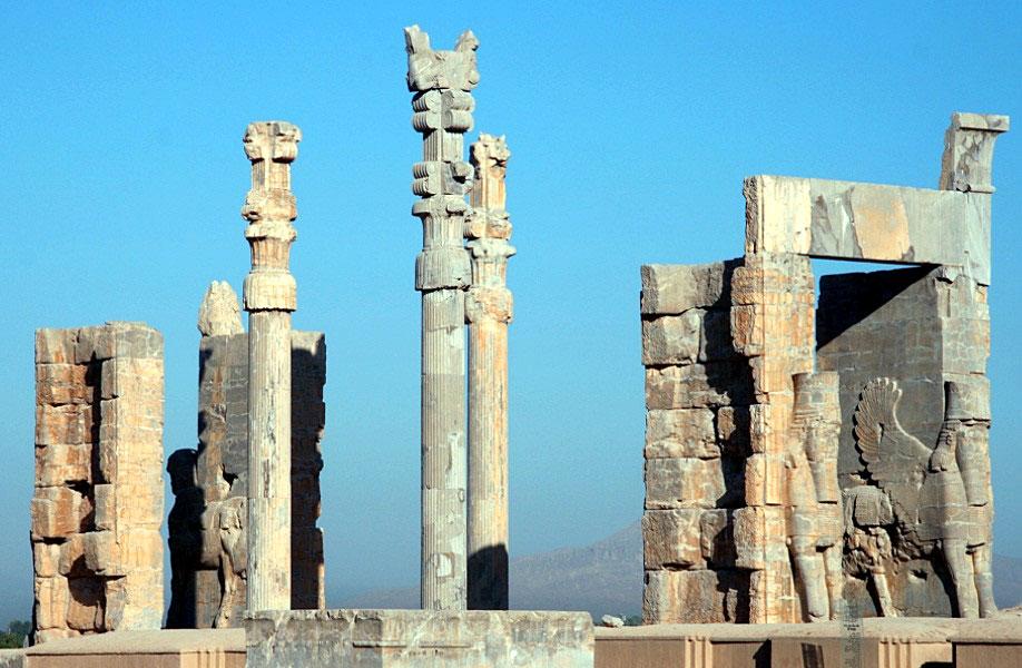 руини от древната столица на Персия Персеполис