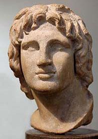Александър Македонски - бюст от Британския музей (Лондон)
