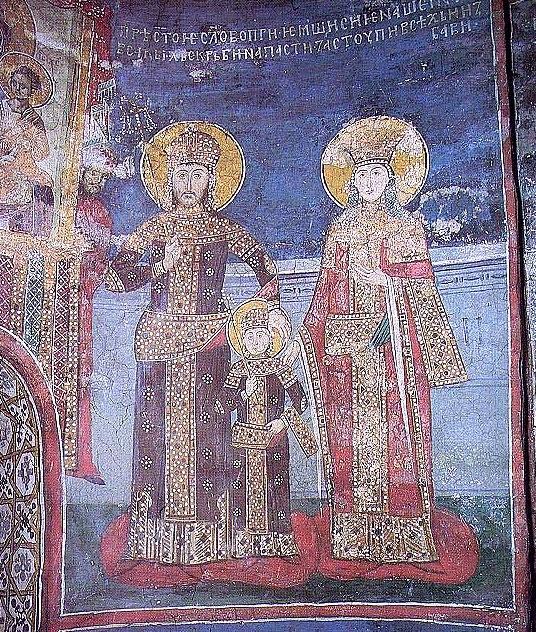 Стефан Душан, Стефан Урош и Елена Българска